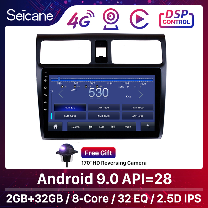Seicane Car GPS Navigation Radio For 2005 2006 2007 <font><b>2008</b></font> 2009 2010 <font><b>Suzuki</b></font> <font><b>Swift</b></font> 10.1
