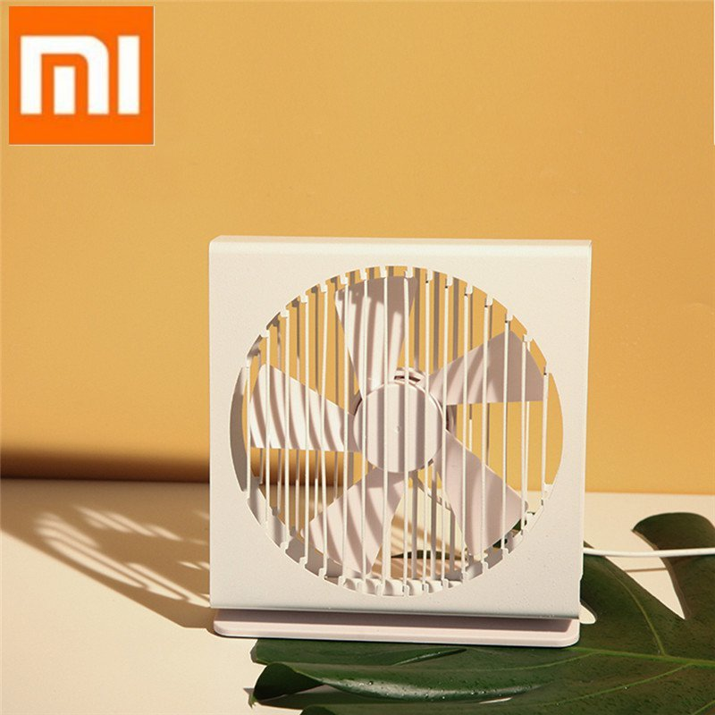 Xiaomi Original Vh Ce 7 Inch Portable Mini Metal Mute Fan 5 Blade Dual Mode Home Office Desk Brushless Motor Fan White And Black