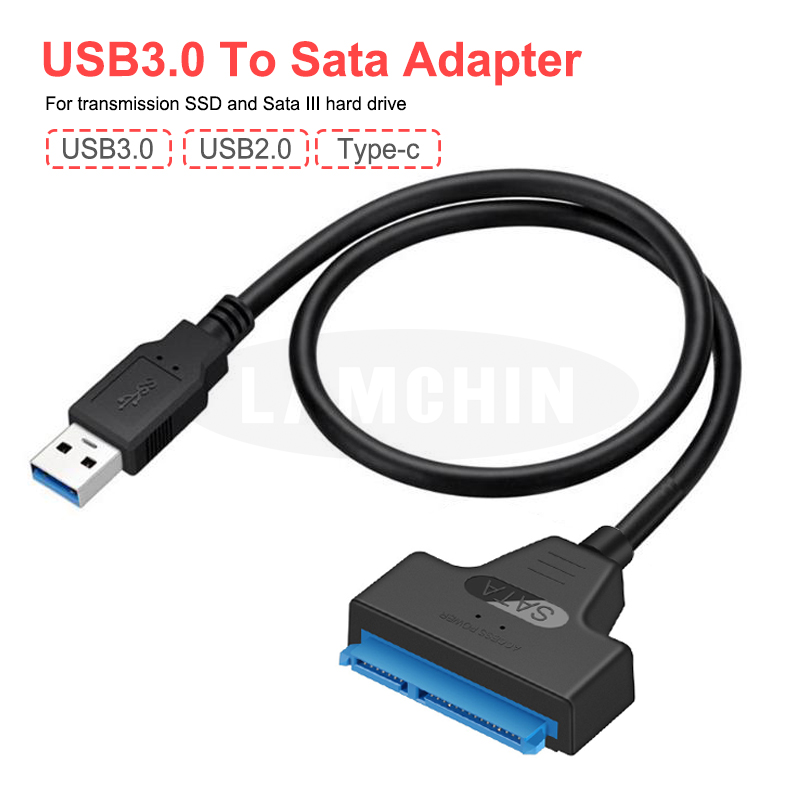 Sata To USB 3.0 Hard Driver Adapter 2.5 Inches External SSD HDD Hard Drive 22 Pin Sata III Type C Cable Sata USB Cable