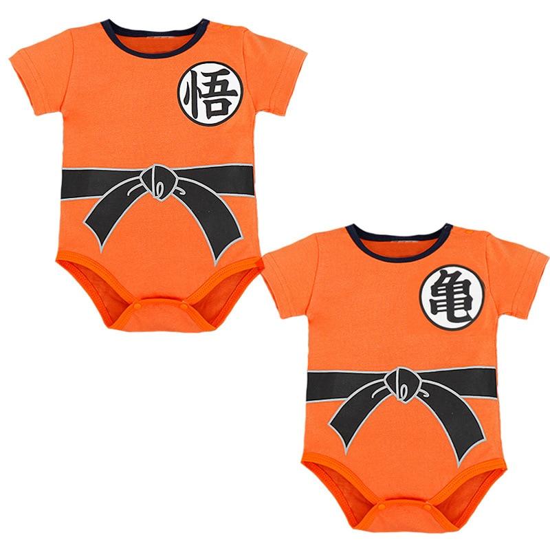 Newborn Baby Boys Girls Dragon Ball Z Clothes Romper Infant Jumpsuit Bodysuit