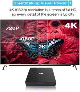 Image 4 - חכם טלוויזיה תיבת T9 אנדרואיד 9.0 4GB + 32GB 1080P 4K YouTube מולטימדיה נגן WIFI 2.4G Quad ממיר ליבה pk X96 hk1 h96