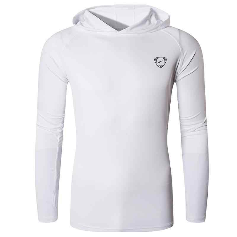 Jeansian upf 50 + uv proteção solar dos homens ao ar livre manga longa camiseta camiseta camiseta praia verão la271 marinha