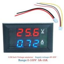 Digital Voltmetro Amperometro DC100V 10A Pannello Amp Volt Tester di Tensione di Corrente Tester