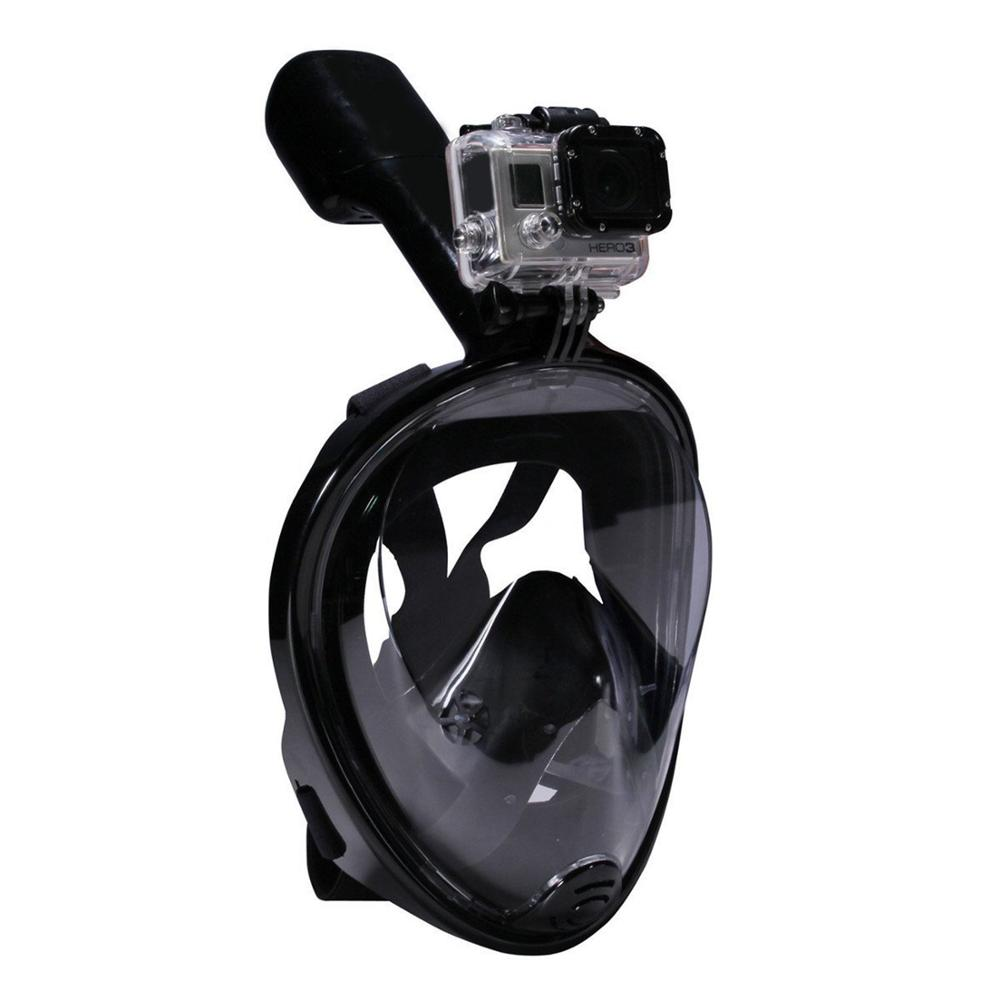 180° Open View Full Face Free Breathing Snorkeling Mask With Tubeless Prevent Gag Reflex