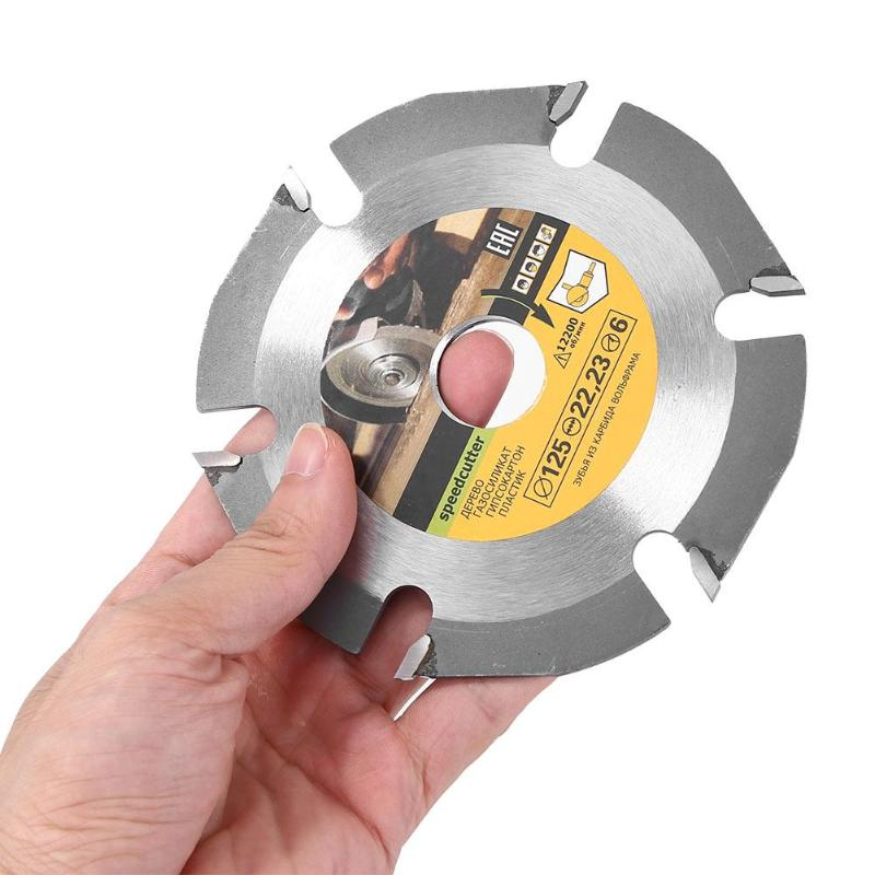 125mm 6T Circular Saw Blade Cutting Grinder Carbide Cutting Universal Disc Multipurpose Grinder Saw Disc Insert Plate Accessory