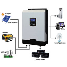 Grid Tie& Grid Off Solar Inverter 5KW Built-in 48V80A MPPT Solar Charge Controller AC Charger 60A 5000W Solar Hybrid Inverter(China)