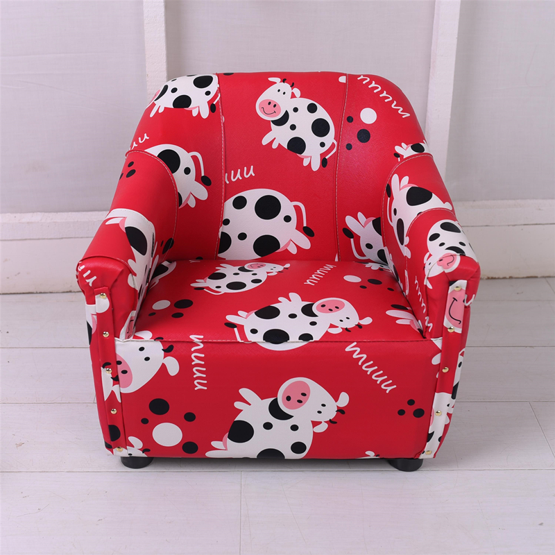 Children's Sofa Single Men And Women Children Infant Baby Learning Sitting Small Sofa Mini Cute Cartoon Leather Seat