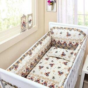 6 шт., комплекты постельного белья для малышей, постельное белье conjunto de berço, детская кроватка, бампер для кроватки, защита для кроватки, дышащ...