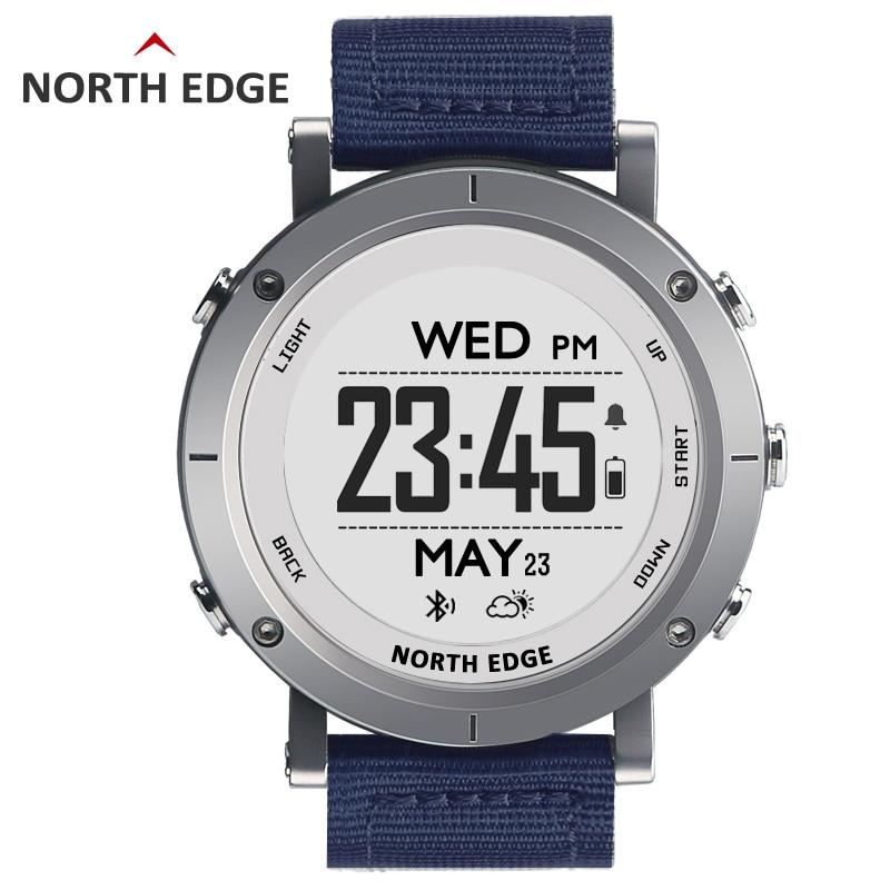Homens Relógio Do Esporte Relógio Digital de Pesca Tempo 50M GPS Altímetro Barômetro Termômetro Bússola Freqüência Cardíaca À Prova D' Água Para Caminhadas