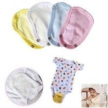 Adorável bebê crianças macacão parceiro bodysuit macacão fralda alongar estender filme mudando almofada extensor de corpo bebe