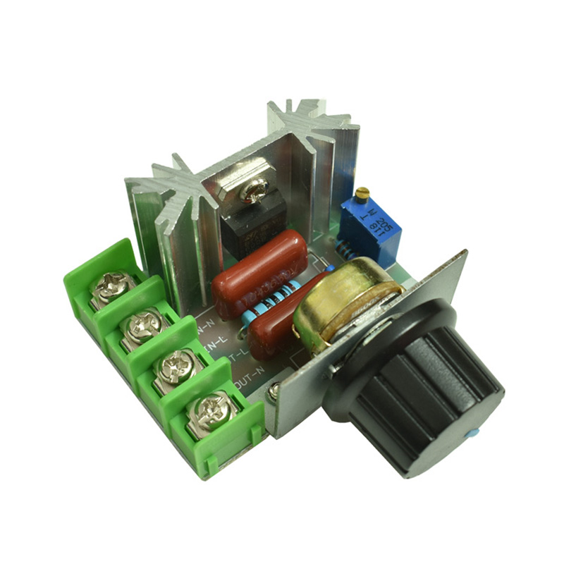 220V 2000W SCR high power electronic voltage regulator, dimming, speed regulation, temperature regulation module image
