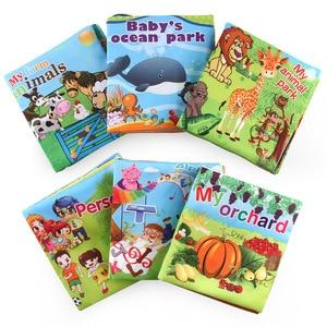 Image 4 - Baby Boek Engels Zachte Doek Boeken Vroege Onderwijs Ouder kind Interactief Verhaal Handbook Cartoon Rustig Boek voor Kinderen