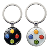 Video Game Controller Photo Keychain geeky boyfriend gift jewelry Glass Cabochon Dome key chain ring DROPSHIPPING newest movie jewelry game of thrones key chain house stark targaryen keychain keyrings gift jewelry