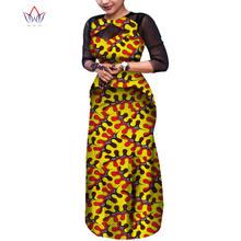 Африканское женское платье bazin riche африканская одежда для