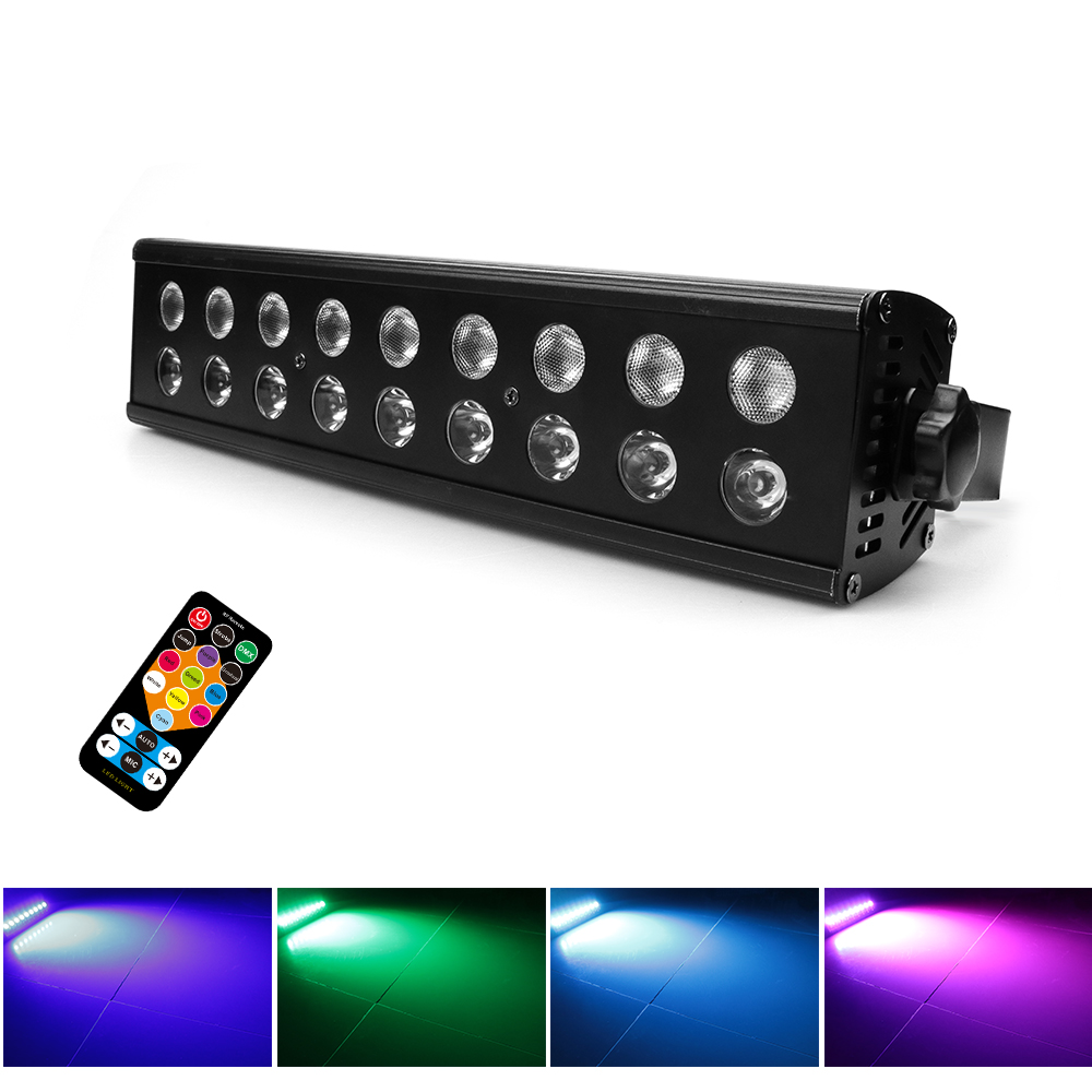 18 LED Disco Black Lights DJ  Par Lamp UV For Party Home Bar Lamp Laser Stage Wall Washer Spot Light Backlight