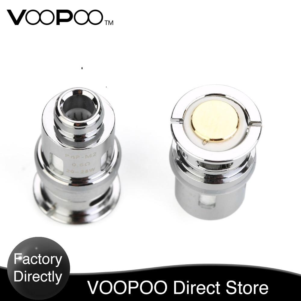 Bobine d'origine VOOPOO PnP 5 pcs/paquet avec PnP-M2 0.6ohm & PnP-R1 0.8ohm & PnP-C1 1.2ohm bobine e-cig pour Kit de Trio de bébé