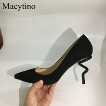 Crystal Shoes Bridal High-Heel Women Pumps Suede Party Pointed-Toe Elegant Designer Ladies