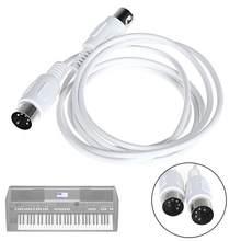 1.5m/4.9ft 3m/9.8ft cabo de extensão midi 5 pinos macho a 5 pinos instrumento de teclado de piano elétrico masculino cabo de computador