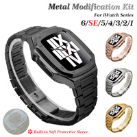 38mm 42mm Set di cinturini in acciaio inossidabile per cinturino Apple Watch 40mm 44mm custodia in metallo per serie iWatch 6 SE 5 4 3 2 1 modifica