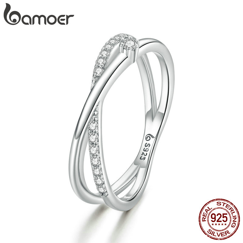 BAMOER Sterling Silver Rings Promise Rings for Couples Roman Numeral Ring for Lovers Anniversary Gift Birthday Gifts for Women