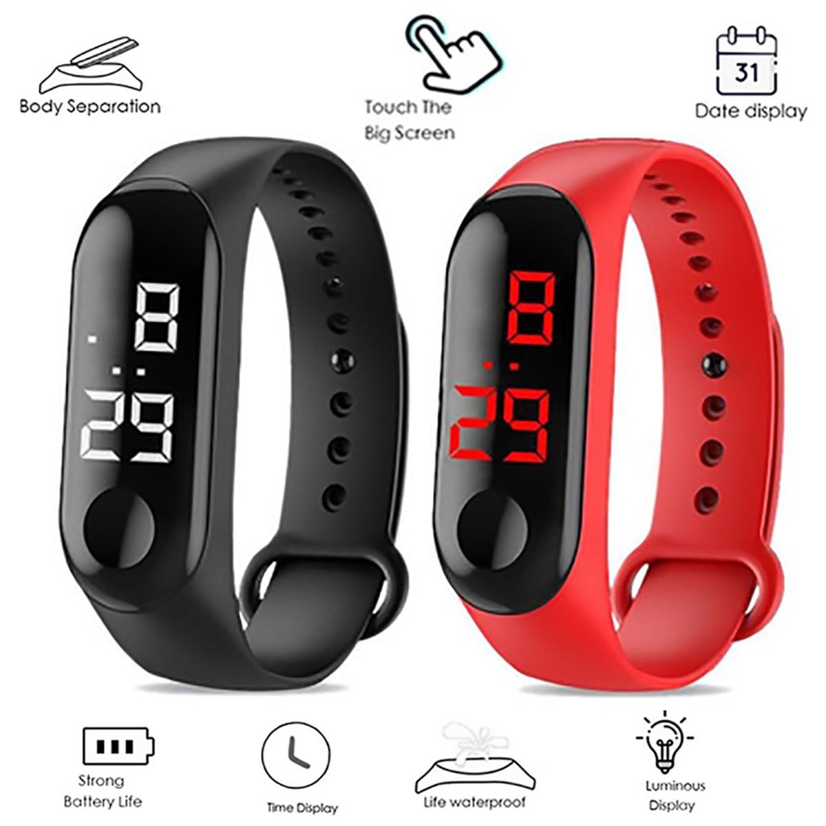 HOT SALE LED Digital Watch Yoga Bracelet Women Touch Screen Wristband Sports Electronic Men Watch Relogio Masculino часы