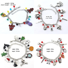 8 Styles Charms Beauty And The Beast/Moana/The Nightmare Before Christmas Little Mermaid Mary Poppins Wizard of Oz Bracelet Gift недорого