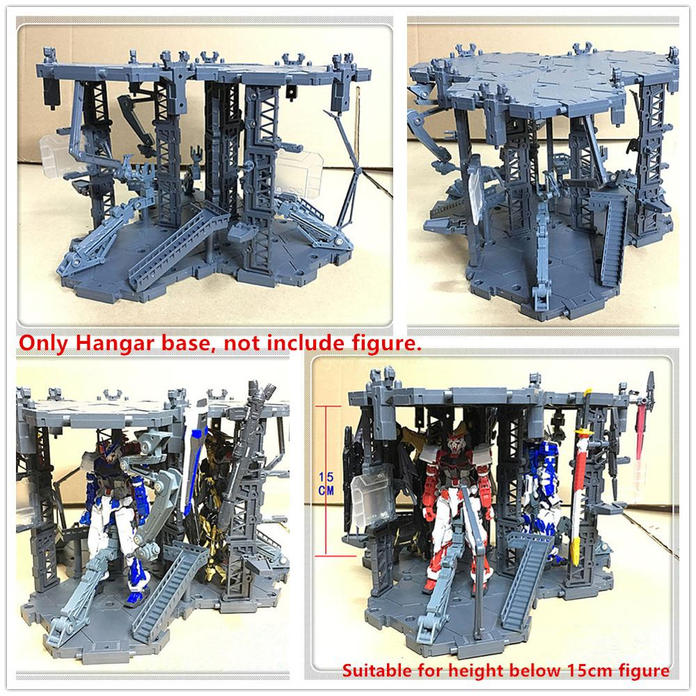 HANGAR garage base scene (3 position) for Bandai 1/144 RG HG SD <font><b>BB</b></font> Red frame Freedom Unicorn etc <font><b>Gundam</b></font> D034* image