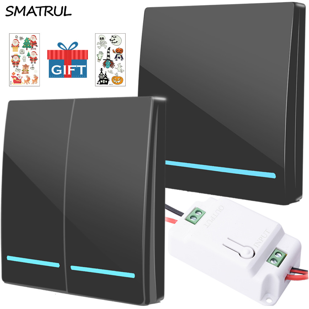 SMATRUL Switch-Light Receiver Button Wall-Panel Ceiling-Lamp Remote-Control Push Smart