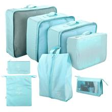 Yeahmart 8Pcs/Set Travel Home Storage Bag Portable Cosmetic Bags Bra Underwear Pouch Case Organizer Clothes Packing Cube Solid