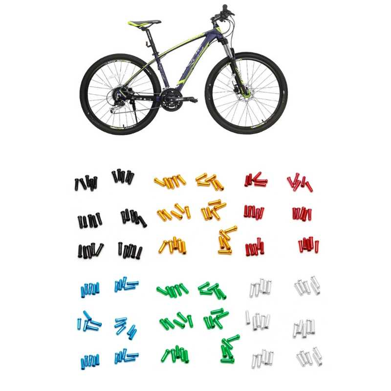 30Pcs set 7Colors Brake Wire End Cap Cable Parts Aluminum MTB Bicycle Bike Line Core Cap Cover Gear Shift Brake 10166