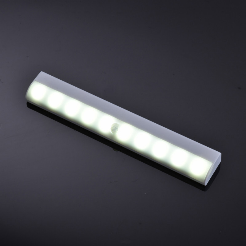 Motion Sensor Night Light Potable 10 LED Closet Lights Battery Powered Wireless Cabinet IR Infrared Motion Detector Wall Lamp