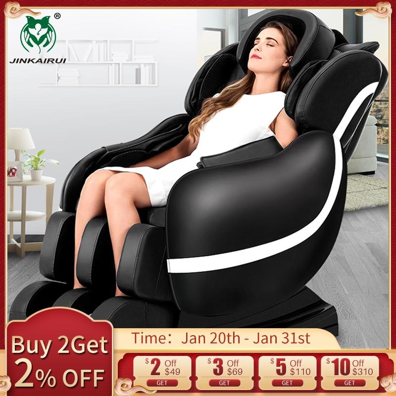 JinKaiRui électrique soins de santé chaise de Massage zéro gravité multi-fonctionnel 3D appareil complet du corps Relaxation Muscle Massagem canapé