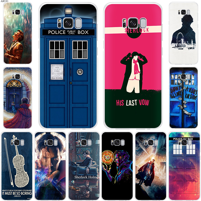 Sherlock Holmes Tardis Who SOFT TPU phone case for Samsung Galaxy <font><b>S105G</b></font> S10 S8 S9 plus S10lite Note10 Note9 S7 S6 Doctor Strange image