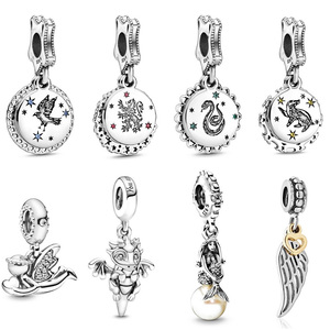 New silver 925 charm Original Harry Raven claw Angel of Love Dangle Bead fit Pandora Charms Silver 925 Beads Bracelet for Women(China)
