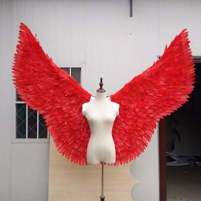 red feather angel wing (2)