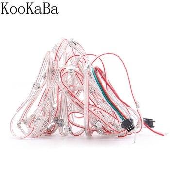 10/25/50Leds/String WS2812B Pixels RGB LED Module Heatsink Board Nodes Addressable Individually DC5V фото