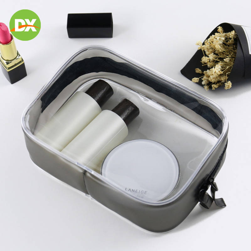 Transparent Pvc Cosmetic Bag Waterproof Travel Wash Bag Sewing Zipper Pvc Bag Three dimensional Portable Zip Lock Beauty Kit in Storage Bags from Home Garden
