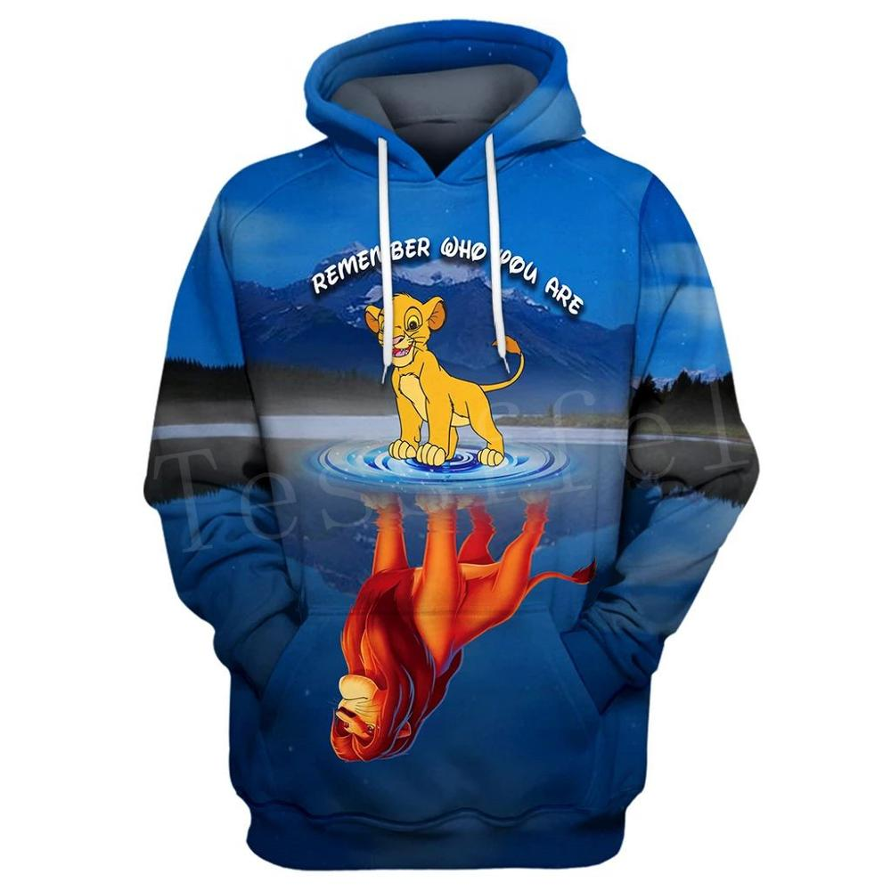 Tessffel NewFashion Hot Anime Movie Cartoon Simba Lion King Tracksuit Mens Womens 3Dprint Sweatshirts/Hoodies/Zipper/jacket S-1