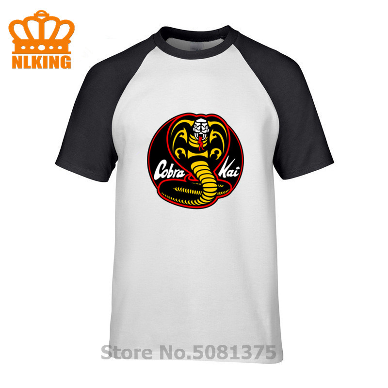 2019 Summer Cobra Kai Karate Kid Movie Logo In Men'S Short Sleeve Male T Shirt 100% Cotton Fashionable Round Neck Shirts Top Tee image