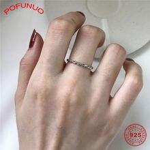 Кольца pofunuo женские из серебра 925 пробы простые корейские
