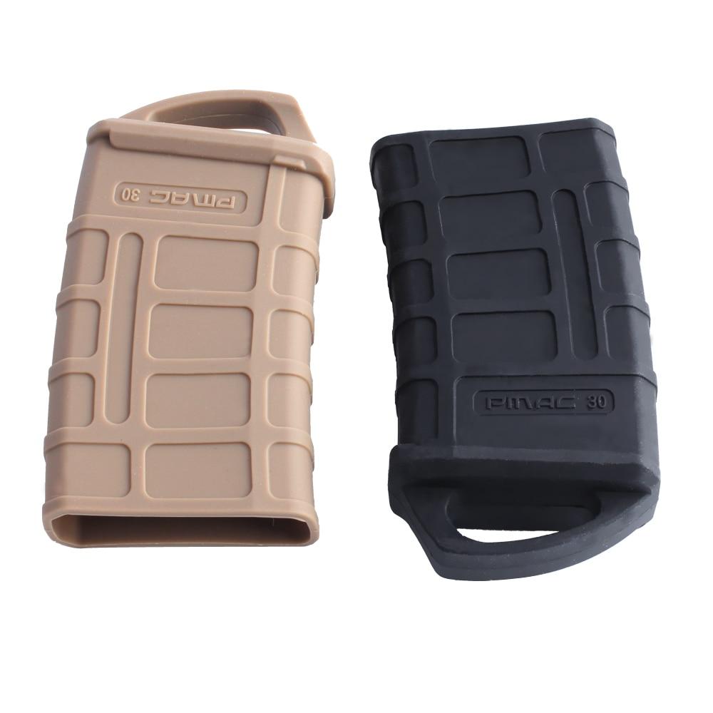 Magorui 1 Uds M4/M16 PMAG Fast Revista Funda de caucho bolsa de caucho manga de goma cubierta de deslizamiento