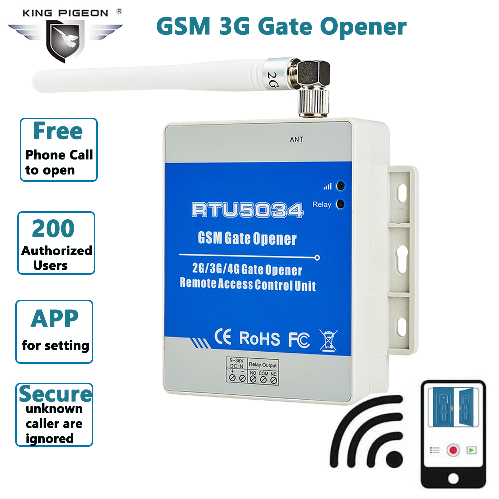 GSM 3G Gate Opener Relay Switch Access Control For Door Gate Remote Controlled By FREE Call RTU5034 50pcs
