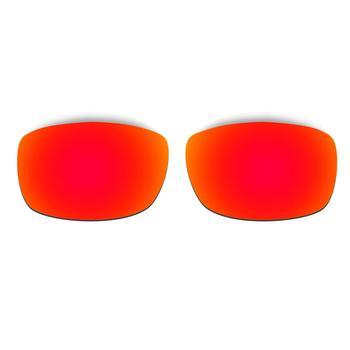 HKUCO Pour Fives-lunettes De Soleil Au Carré Remplacement Lentilles Polarisées 2 Paires-rouge & Noir