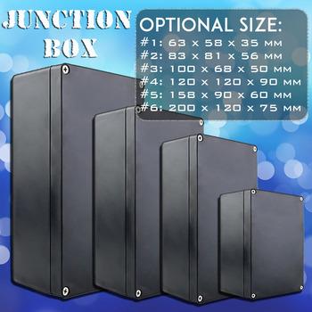Wodoodporna czarna obudowa DIY obudowa oprzyrządowania ABS plastikowe pudełko projektowe futerał do przechowywania obudowy pudełka elektroniczne tanie i dobre opinie CN (pochodzenie) wodoodporne Waterproof Junction Box Żelazo ABS