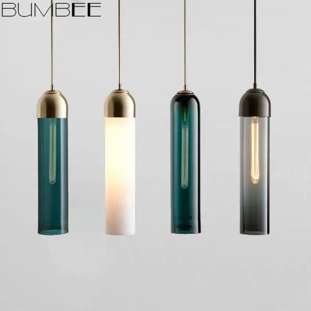 Nordic Creative Chandelier Minimalist  Bedroom Lustre Pendant Lamp Designer Model Room Hotel Coffee Glass Hanging Light Fixture