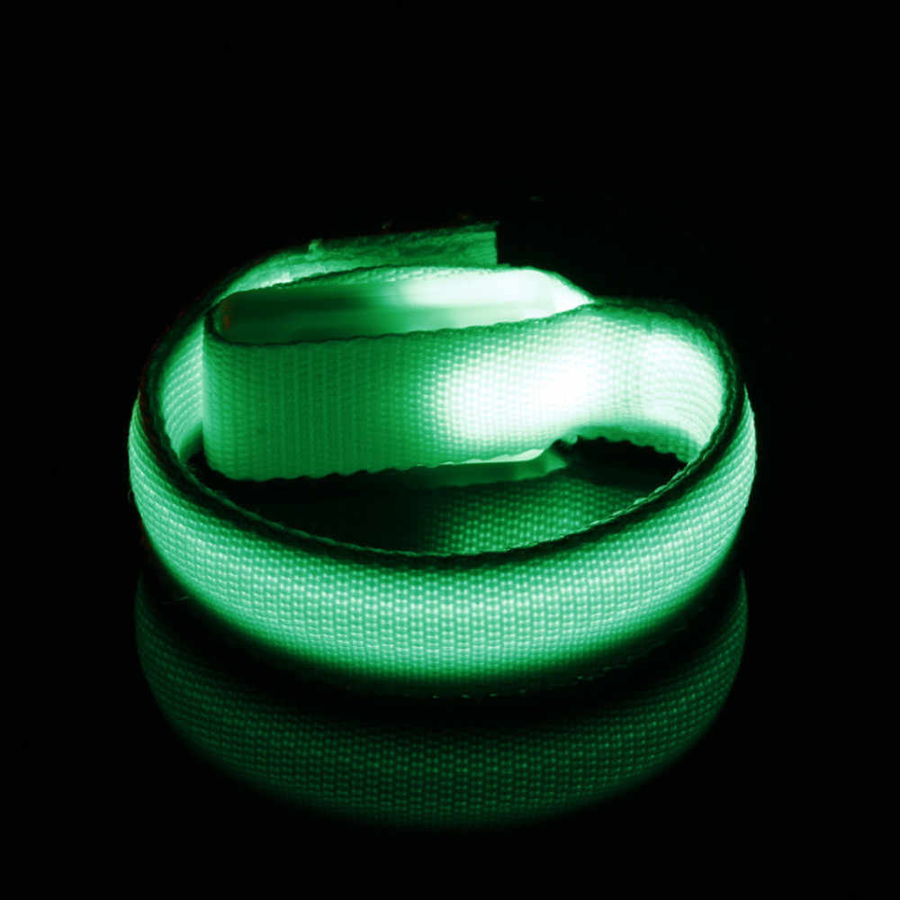 Led luminoso braço pulseira luz noite aviso de segurança led flash luz para a execução ao ar livre ferramenta acampamento equipamento sobrevivência ferramenta