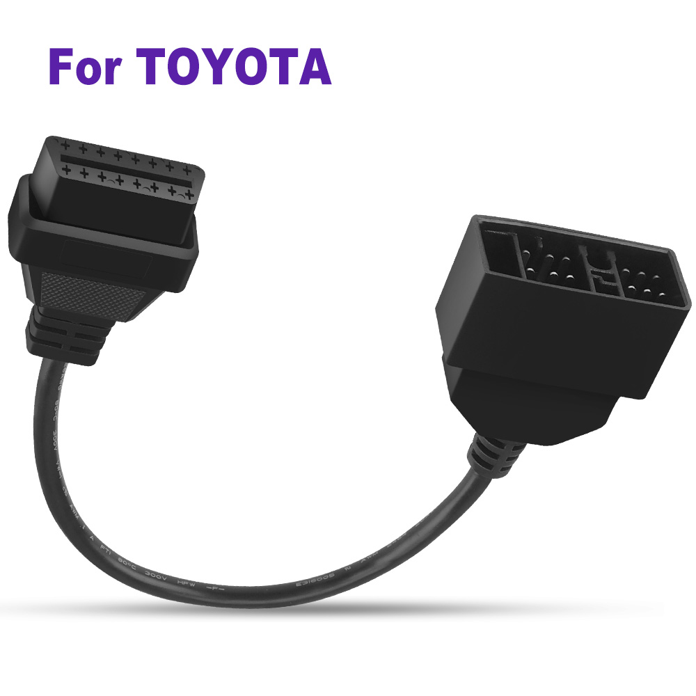 For <font><b>Toyota</b></font> <font><b>22Pin</b></font> to 16Pin OBD2 Interface Car Diagnostic Connector For Estima Etios Axio Fielder Corolla RAV4 Cable Accessories image