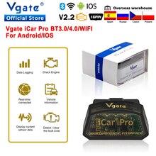 Outil de Diagnostic de voiture Bluetooth 4.0 OBD 2 automatique ELM 327 V2.2 de Scanner de Vgate iCar Pro wifi elm327 obd2 pour le lecteur de Code IOS/Android
