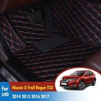 LHD Car Floor Mats For Nissan X Trail Rogue T32 2014 2015 2016 2017 Car Interior Accessories Car FloorLiner Carpets Set