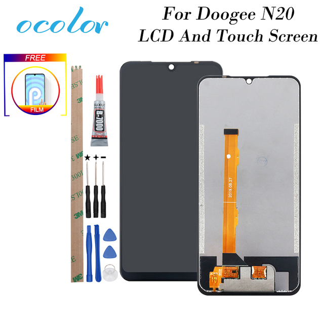 Ocolor doogee N20 lcdディスプレイとタッチスクリーン6.3 デジタイザアセンブリの交換ツール + 接着剤doogee n20